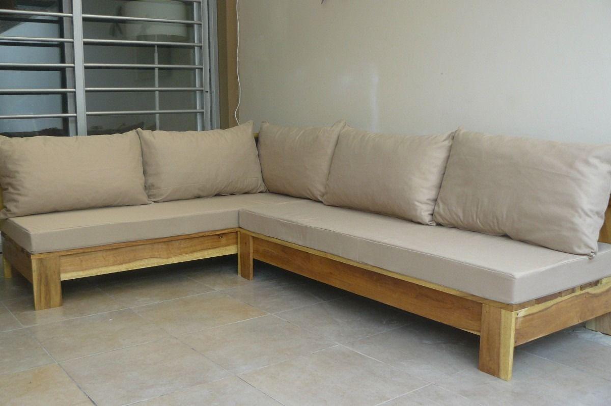 Resultado de imagen de hacer sofa madera exterior palet for Sofa terraza madera