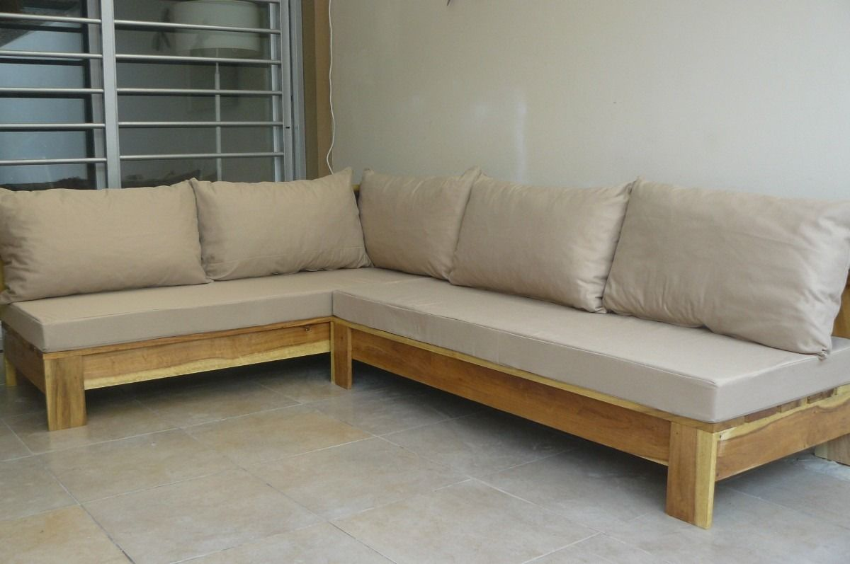 Resultado de imagen de hacer sofa madera exterior palet for Sofa exterior hierro