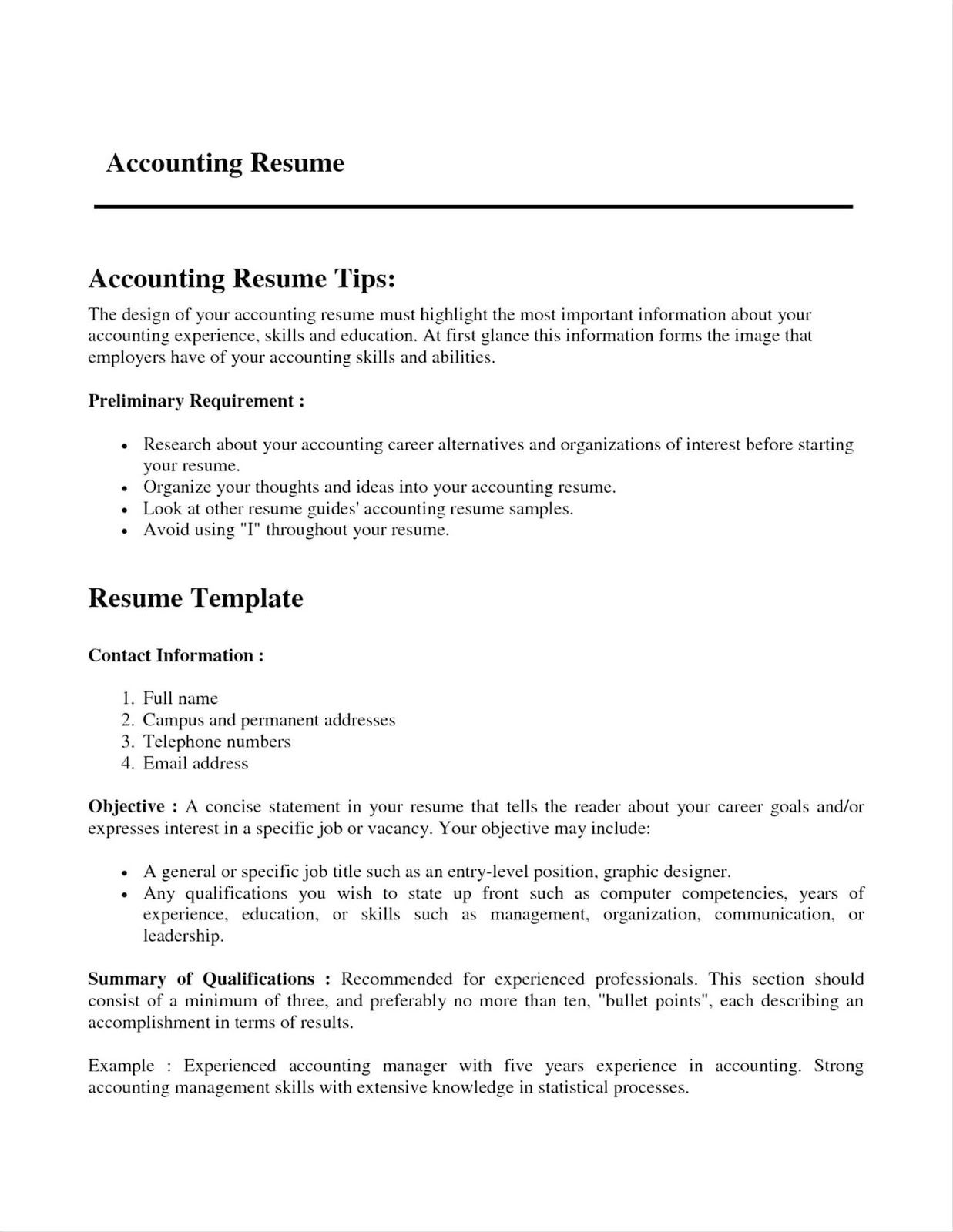Accounts Payable Resume Format 2019 Resume Templates 2020