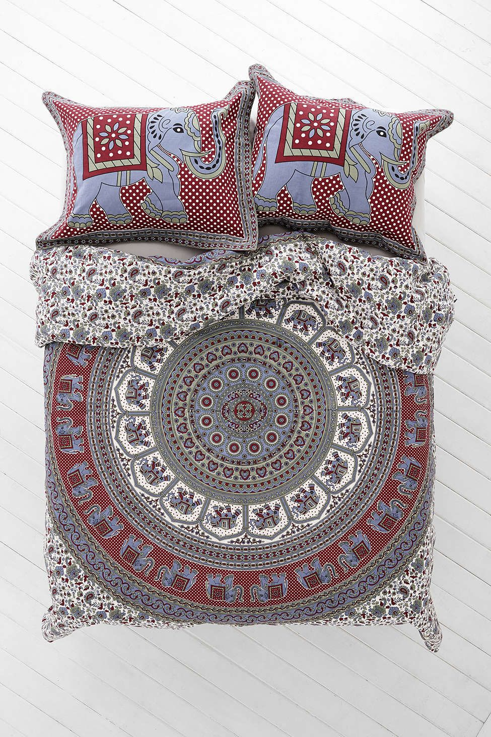 Bettwäsche Mit Elefanten Magical Thinking Grey Elephant Stamp Duvet Cover Urban