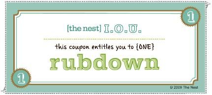 Downloadable I.O.U. Massage Coupon