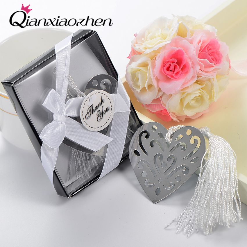Free Shipping 1pcs Heart Bookmark Wedding Favors And Gifts Wedding