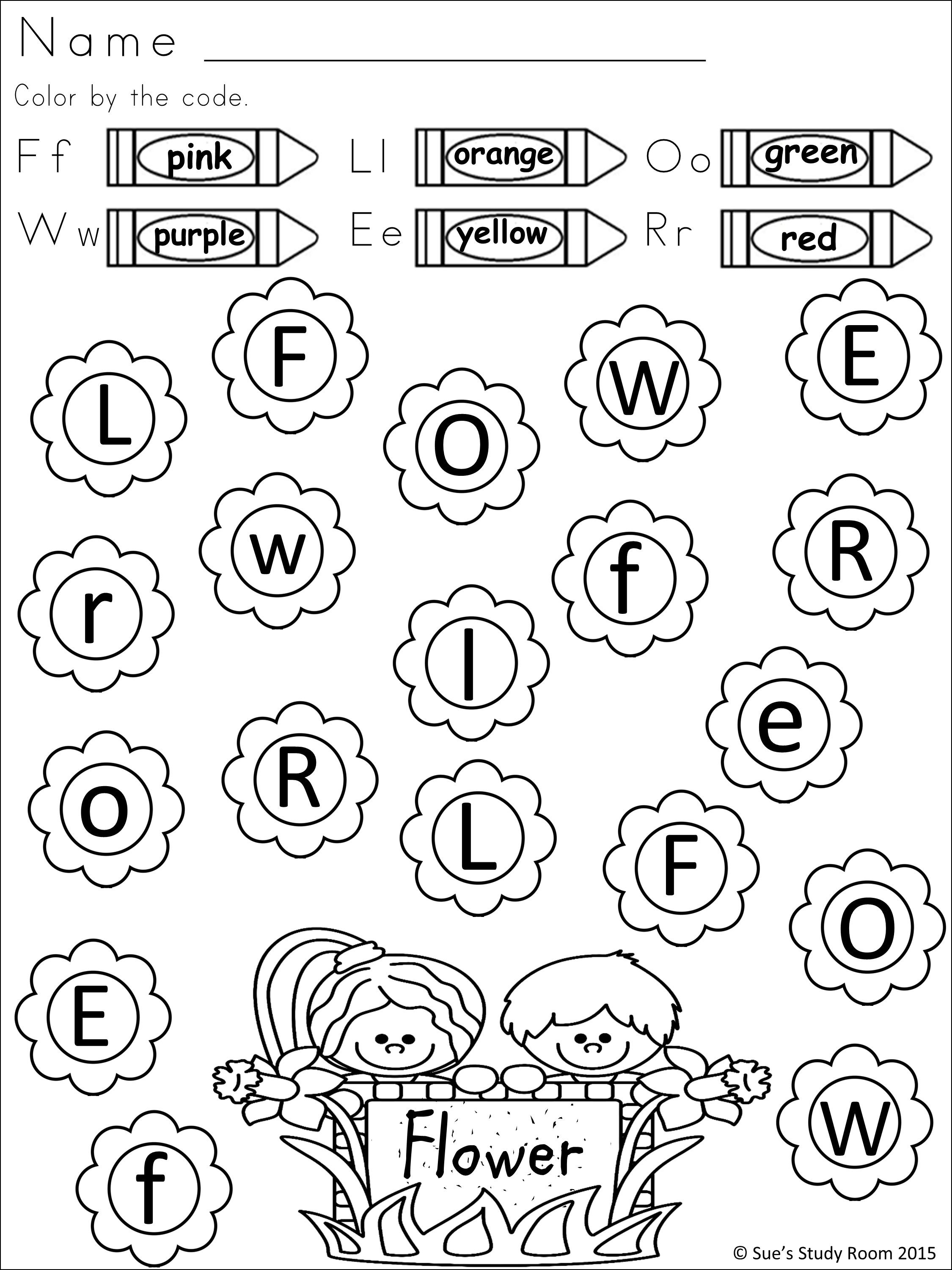 Spring Letter Recognition For Prek And K Teachers Pin