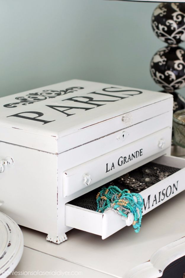 32 creative diy jewelry boxes and storage ideas jewelry storage 32 creative diy jewelry boxes and storage ideas jewelry storage jewelry box makeover and organizing jewelry solutioingenieria Images