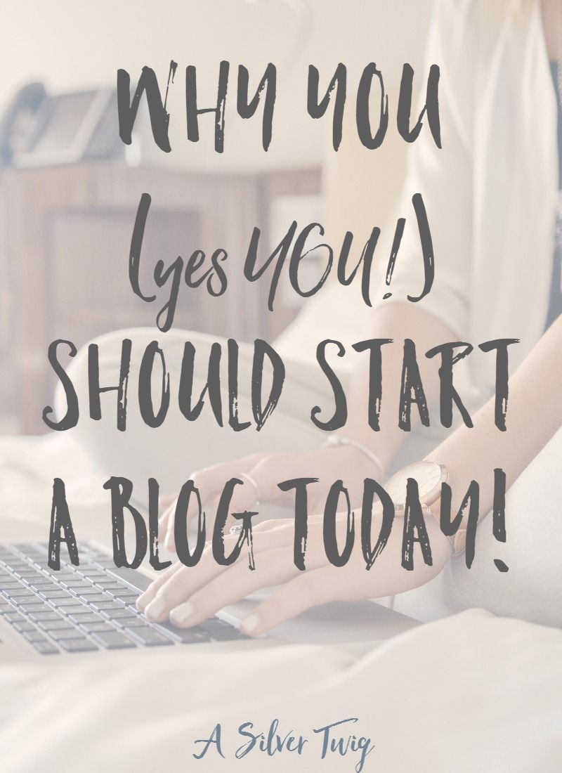 I know you're probably thinking about it but I'm here to tell you today that you should absolutely start your blog and start it today! God's given you a voice, and a message, so get out there and share it with the world.