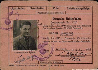 7 Carte D Identite Personnelle De La Deutsche Reichsbahn 9 Mai