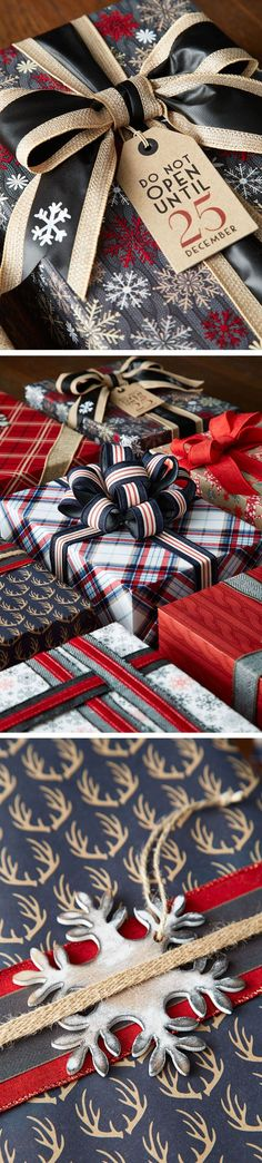 Rustic done right! Only with our Gift Wrap Wonderland! wrapping