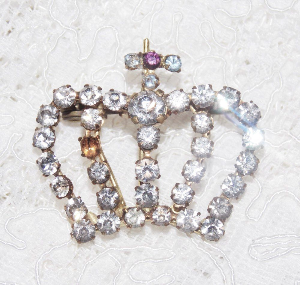 Crown Vintage Brooch