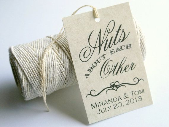 About Each Other, Printable Wedding Favor Tags, DIY Gift Tags, Bridal ...