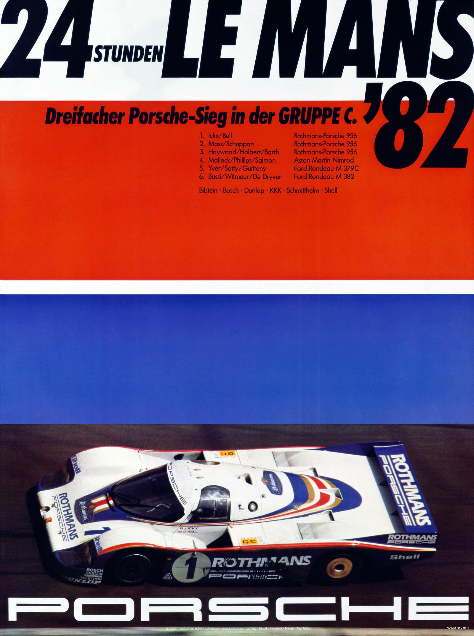 Porsche Poster for the 1982 Le Mans 24