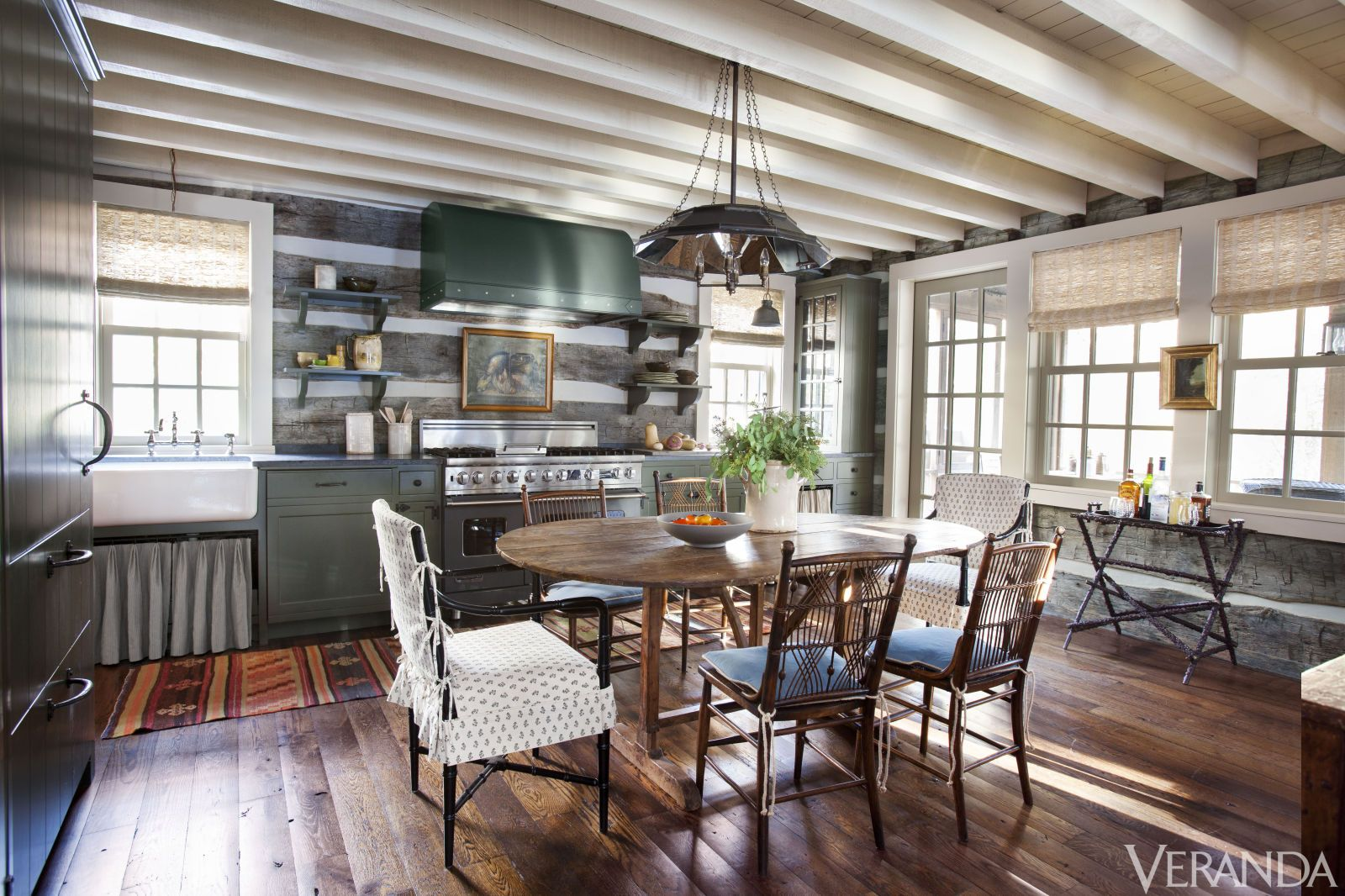 HOUSE TOUR: A Pair Of 1840s Log Cabins Is Reimagined Into One ...