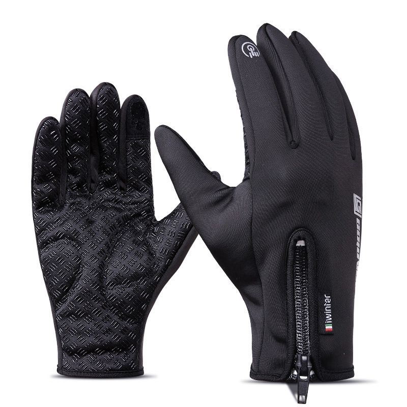 Cycling Long Full Finger Winter Warm Touch Screen Gloves Windproof Bicycle Glove