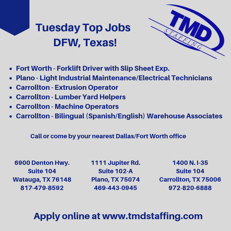 DFW, TX Jobs Texas jobs, Job, Dallas jobs