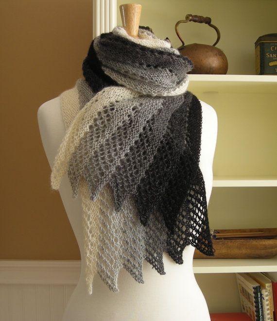 Echarpe Mistral Mistral Scarf Knitting Pattern From The T En