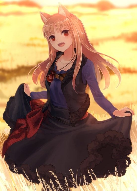 Holo in a field [Spice and Wolf]