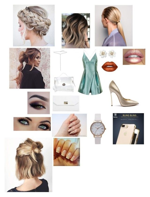 """""""Untitled #48"""" by queenbee77 ❤ liked on Polyvore featuring Topshop, Casadei, Bling Jewelry, Prada, Lime Crime, Boohoo and Olivia Burton"""