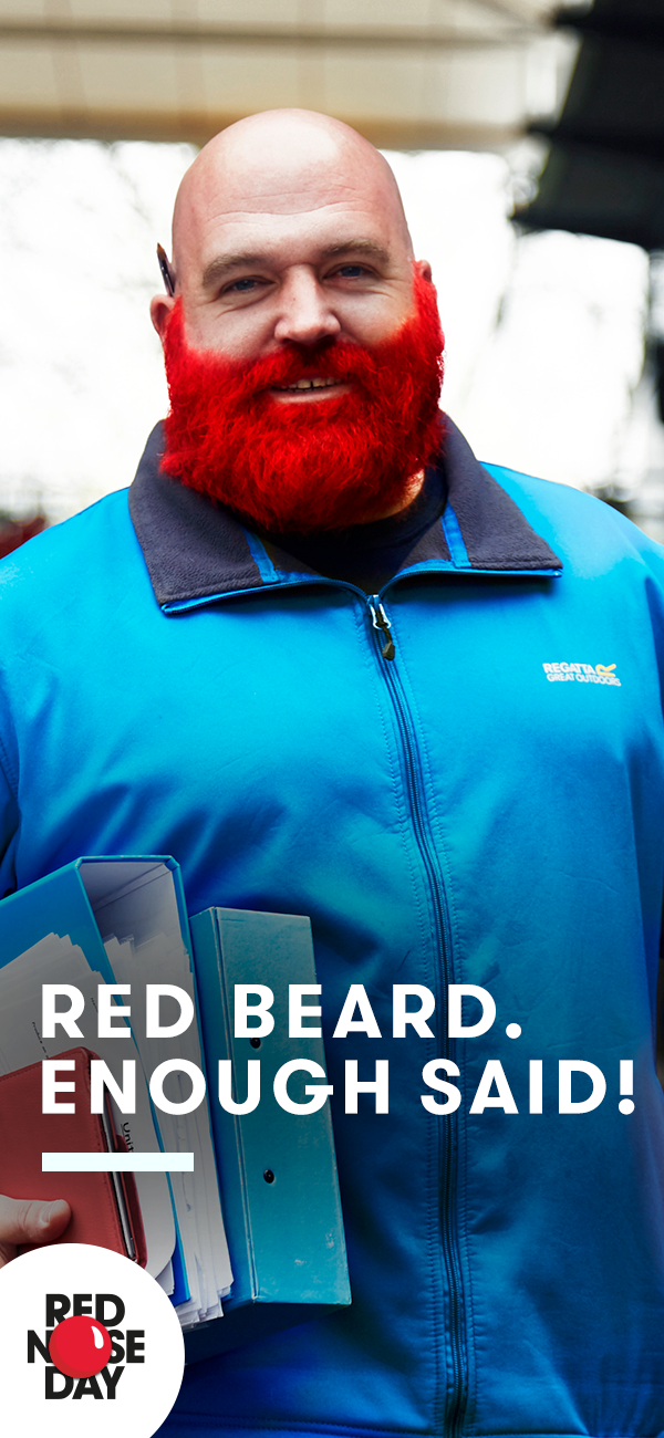 how to dye a beard red