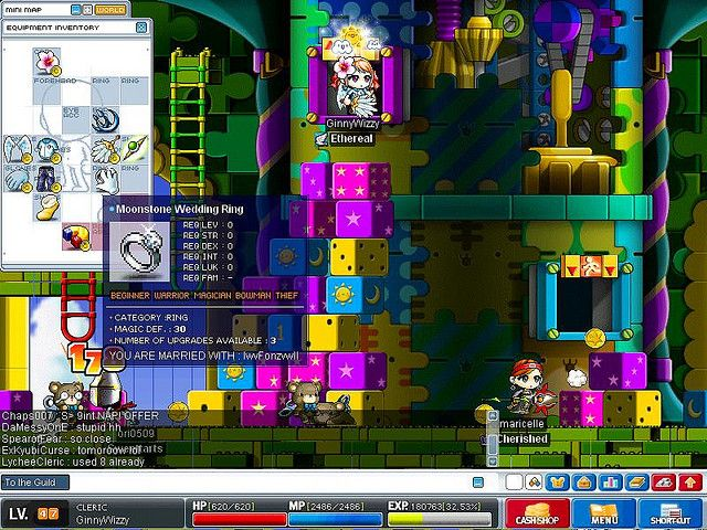 My Wedding Ring in Maplestory Today I found some gorgeous wedding