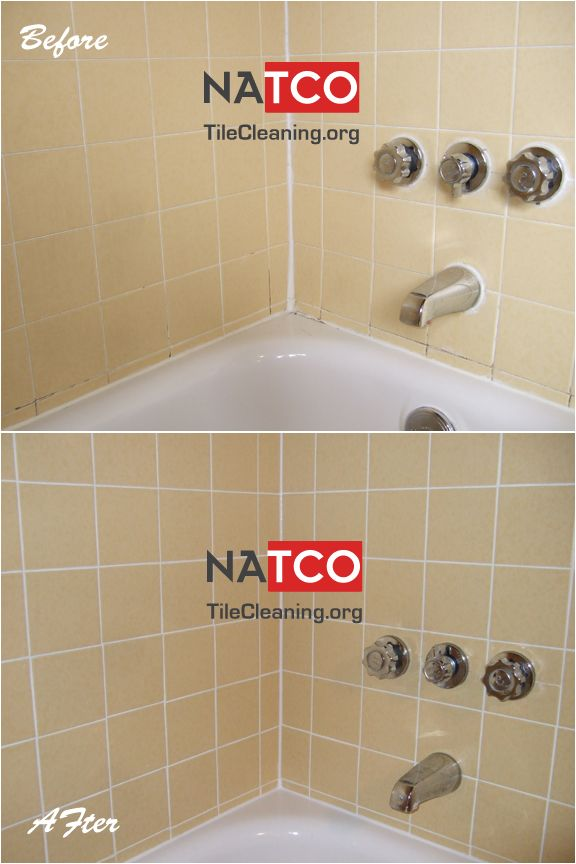 Before And After Pictures Of Regrouting Yellow Shower Tiles