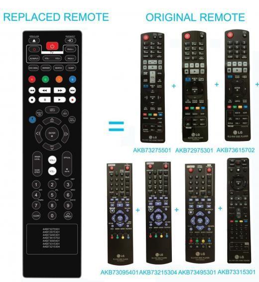 Lg New Replace Remote Akb73275501 Akb72975301 Akb73615702