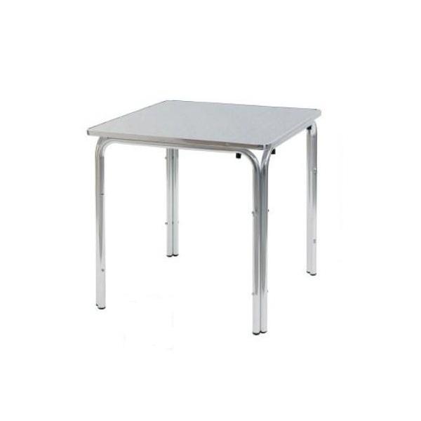 Tavoli alluminio quadrati, misura 80 X 80 cm a 4 gambe, da