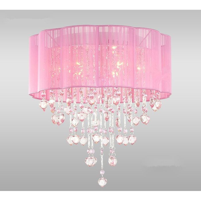 This stunning pink ceiling lamp will give your dining room a ...