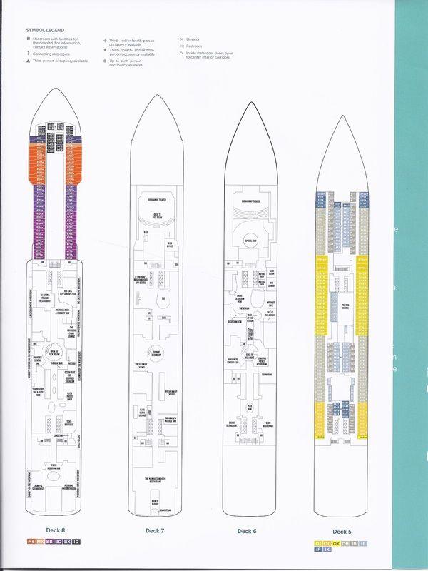 Norwegian Breakaway Deck Plans With Images Deck Plans Cruise