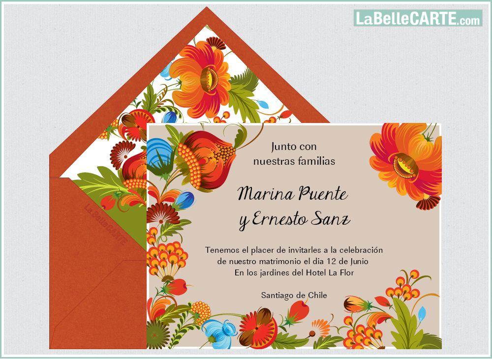 Ejemplos tarjetas de invitacion para bodas cristianas - Tarjeta de boda ...