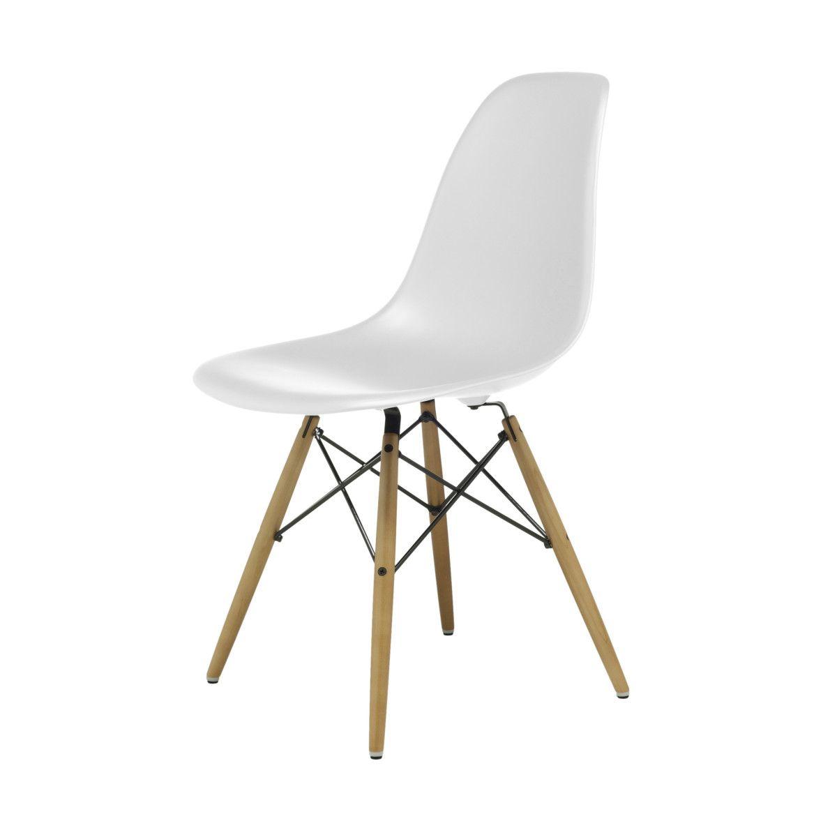 Perfekt Eames Plastic Side Chair Stuhl DSW Mit Kunststoffgleitern Weiss Ahorn Neue  Mau0026szlig|e Jetzt
