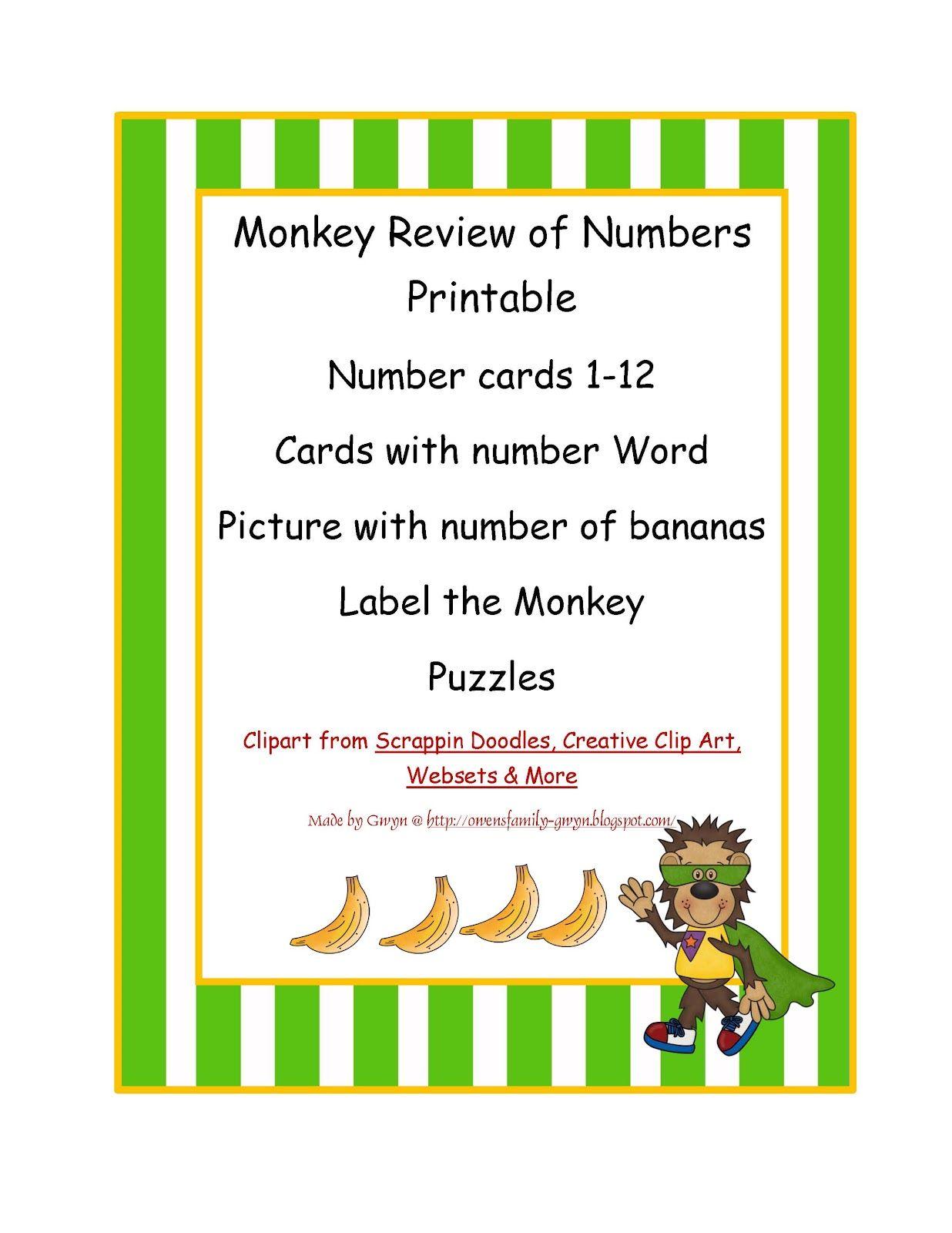Preschool Printables Numbers