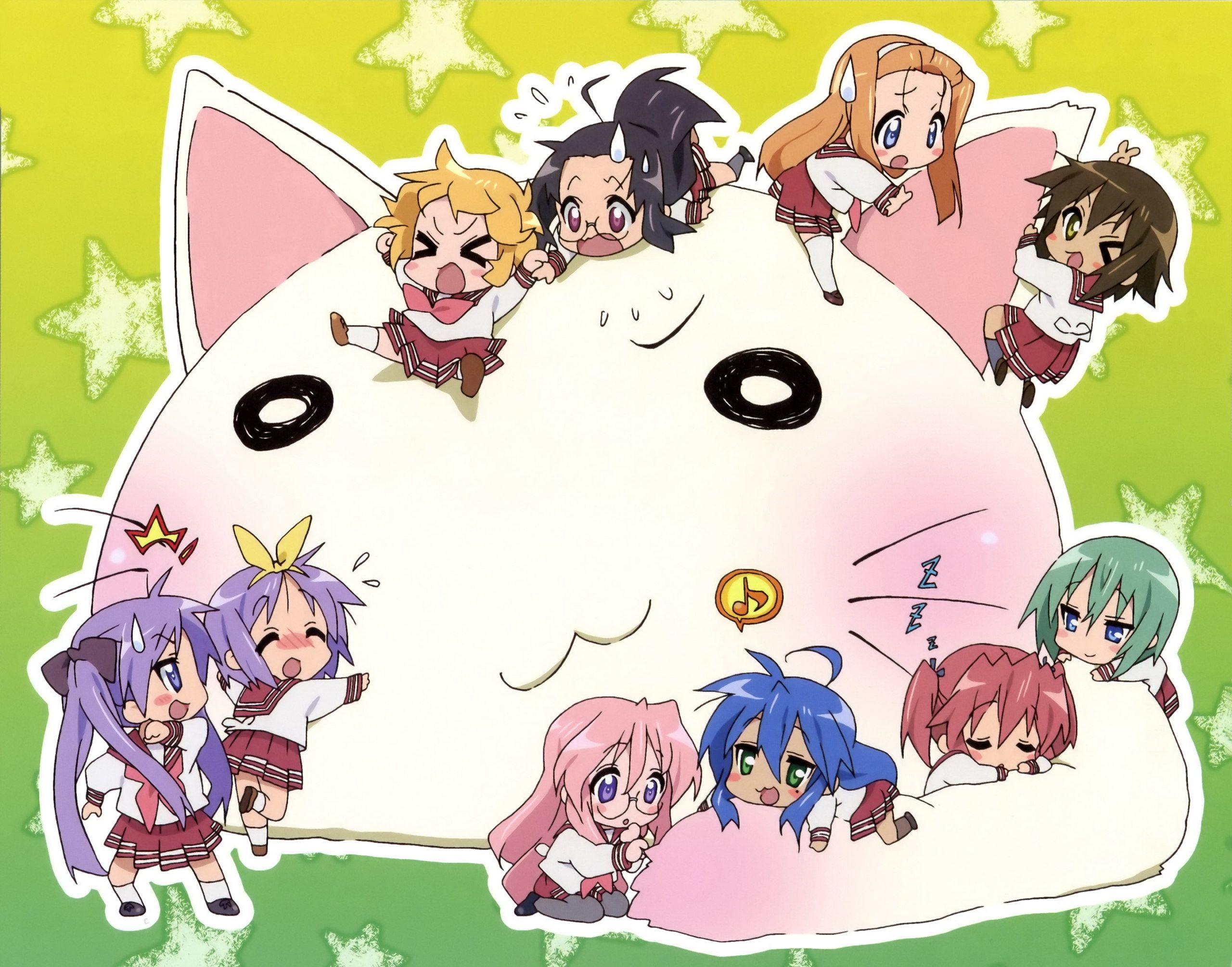 Kawaii luck star anime girls wallpaper animes anime