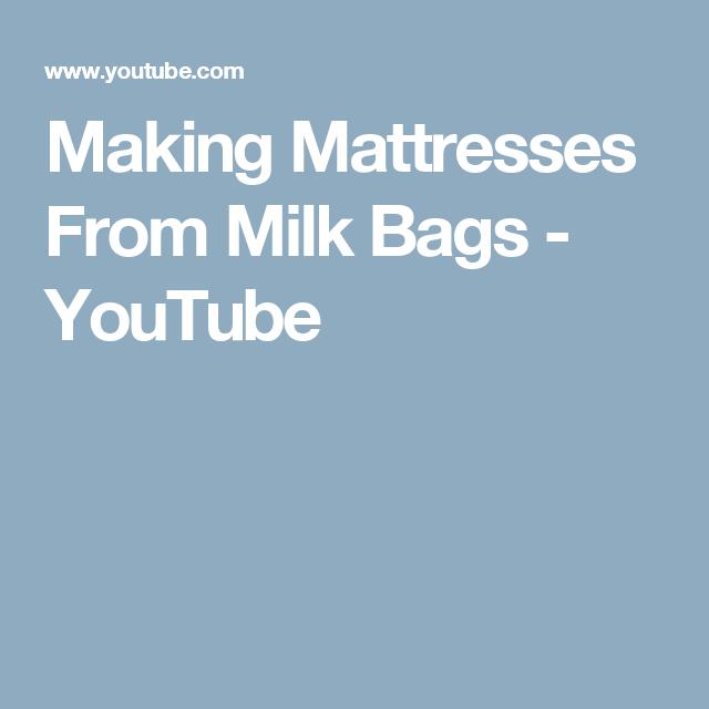 Making Mattresses From Milk Bags Youtube Knittingcrochet