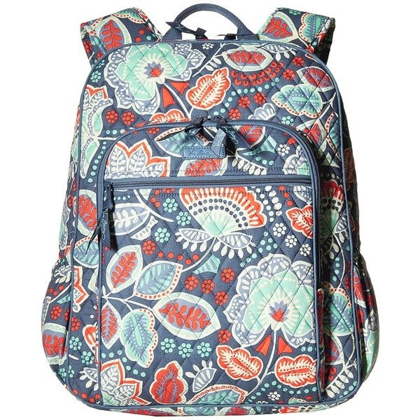 2c07a389d699 Vera Bradley Campus Backpack (Nomadic Floral) Backpack Bags ( 109) ❤ liked  on Polyvore featuring bags