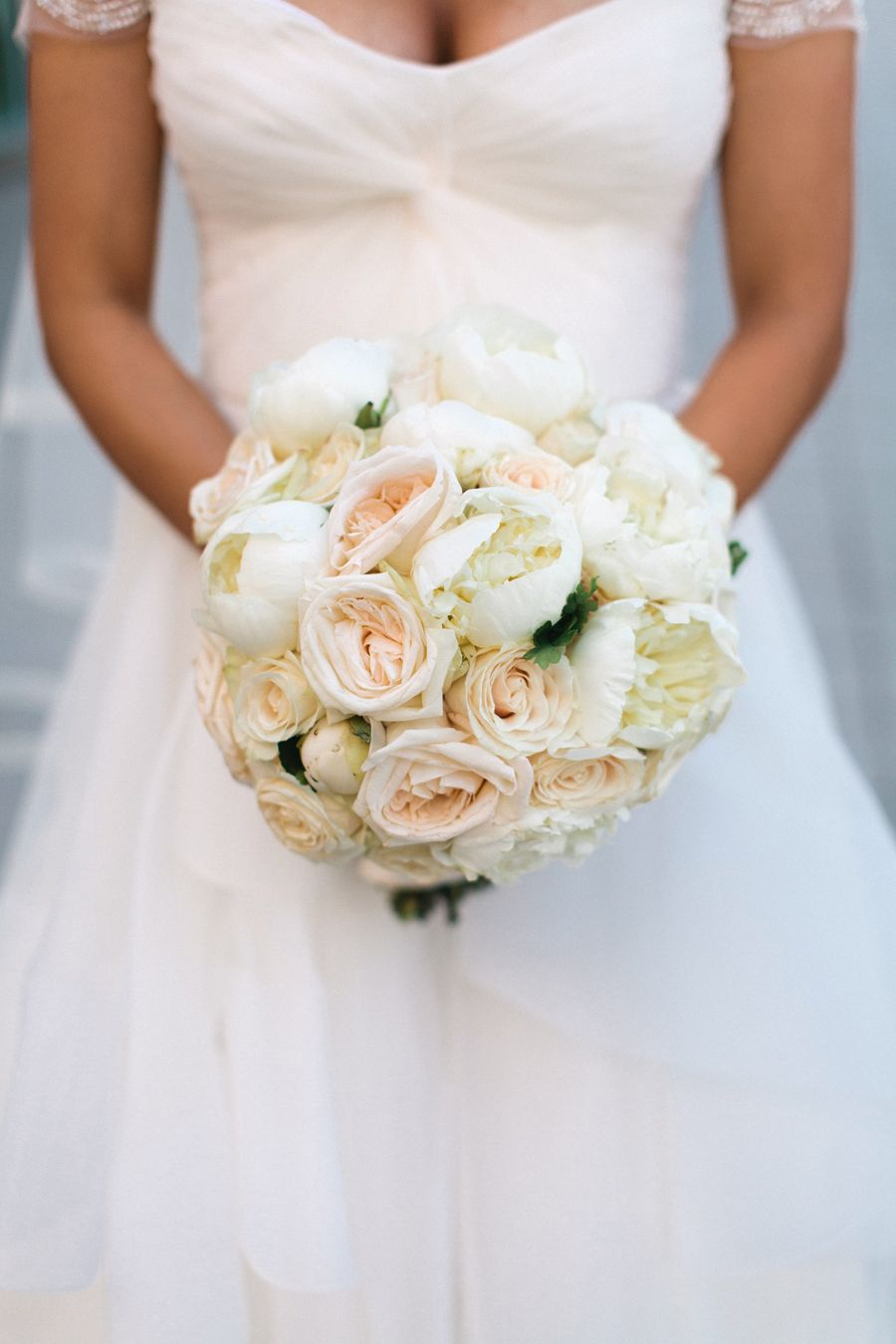 Pale Pink and Cream Rose Bouquet | photography by http://megruth.com/