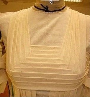 Pleated bodice