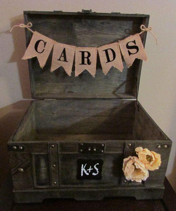 Extra Large Rustic Wedding Card Box Trunk By Anartsyaffair 79 99