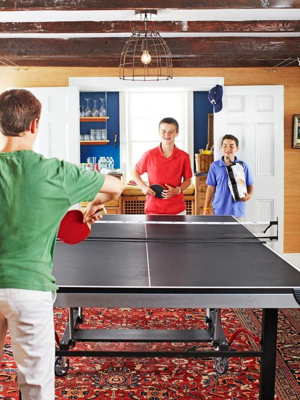 Table Tennis Room Design: Kid-Friendly Home Decorating
