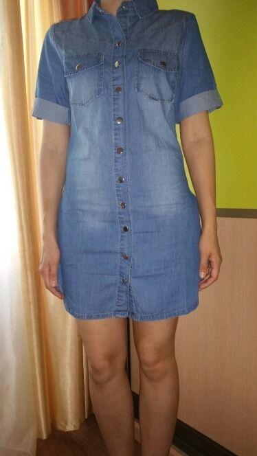 Summer Denim Dress Women Plus Size Three Quarter Sleeve Dress