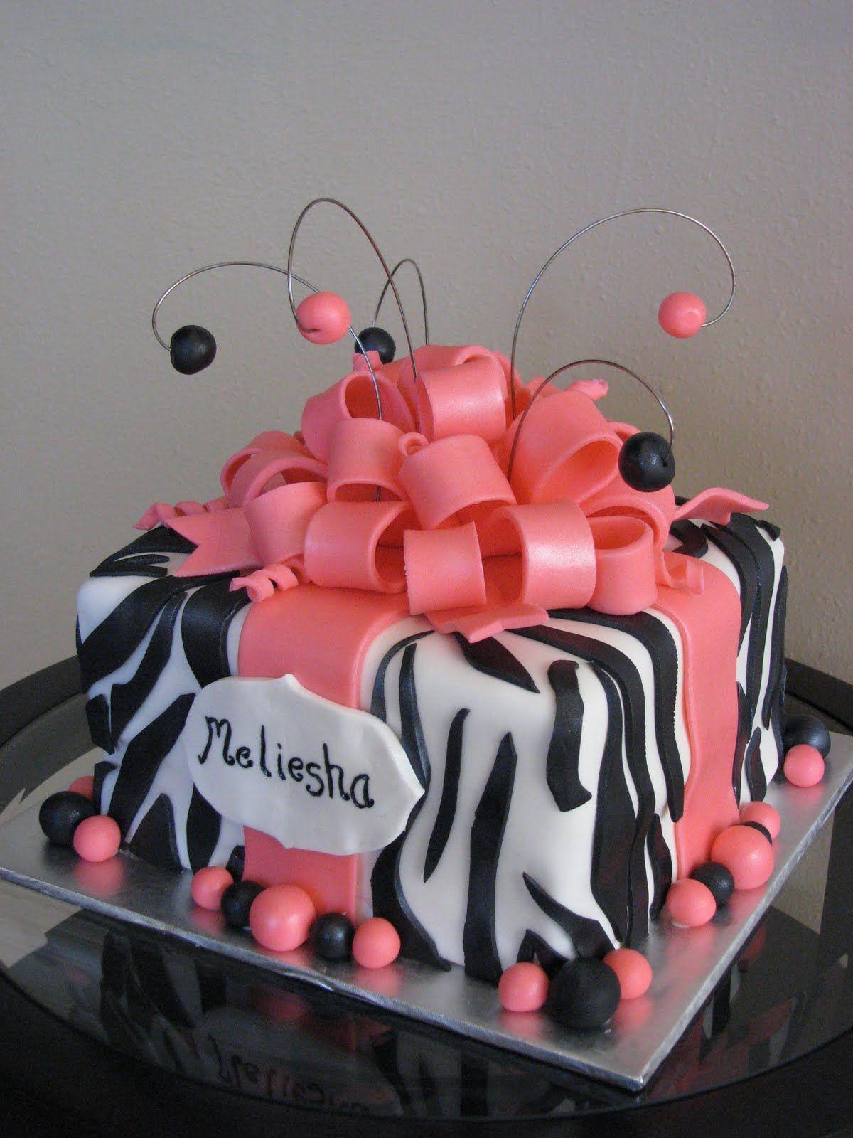 ZEBRA BIRTHDAY CAKES Bake me a Cake Zebra Birthday Cake cakes