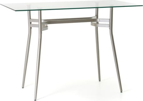 Amisco Anais Rectangular Or Square Glass Top Counter Height Table Pub Table Table High Top Table Kitchen