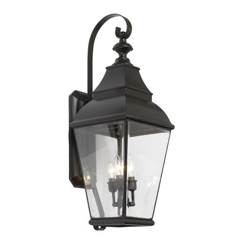 Bristol charcoal three light outdoor sconce elk lighting wall mounted outdoor