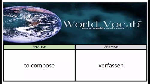 to compose - verfassen German Vocabulary Builder Word Of The Day #108 ! Full audio practice at World Vocab™! https://video.buffer.com/v/57501ee1138756b45b5a4c3d