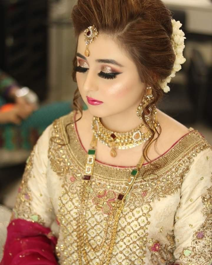 Latest Pakistani Bridal Hairstyle: Pakistani Bridal Makeup, Pakistani Bridal