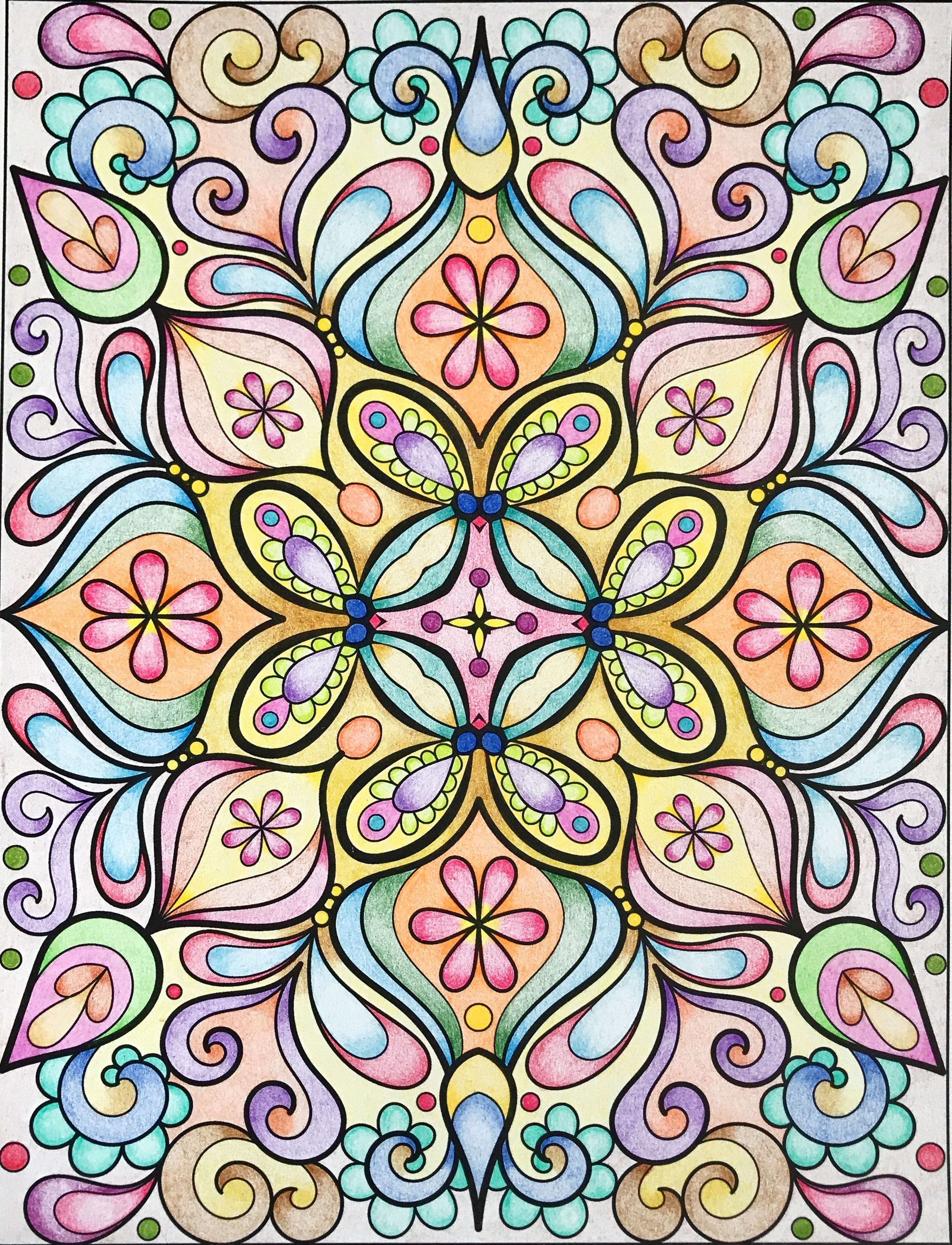 Groovy Abstract Coloring Pages : Design groovy abstract coloring book t mcardle