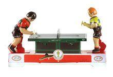 Tafeltennissers 'pingpong' - blikken speelgoed -De Oude Speelkamer #retro #nostalgie #vintage