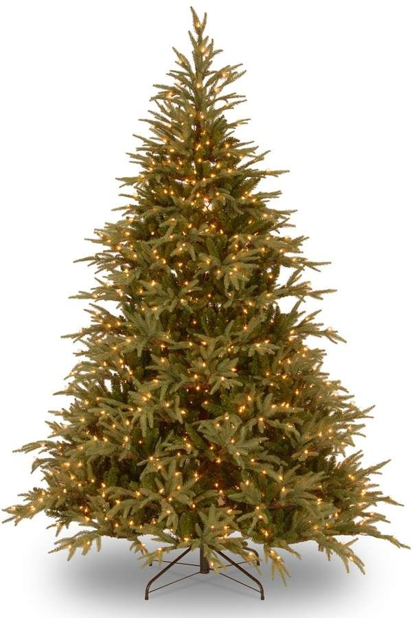 9 Ft Pre Lit Dual Led Feel Real Frasier Grande Artificial Christmas Tree Types Of Christmas Trees Artificial Christmas Tree Christmas Tree