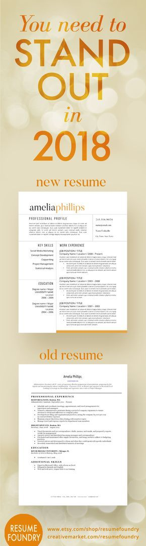 Modern Resume Template for Word, 1-3 Page Resume + Cover Letter + - reference page for a resume