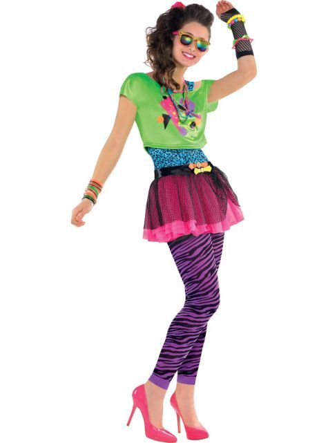 b2d56c2ac31eda Teen Girls Totally Awesome 80s Costume - Party City