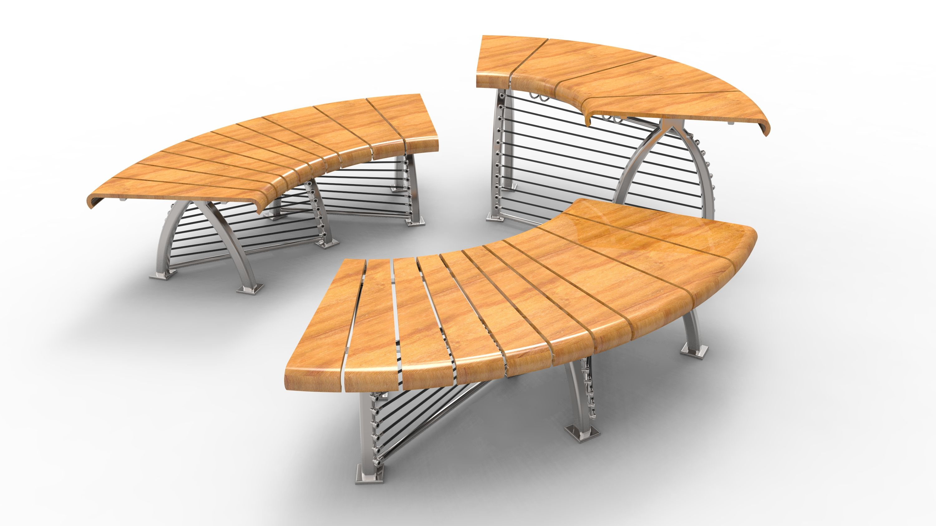 Really Digginu0027 This Wood And Metal Public Seating By Tyler Drake! Modeled  In Rhino