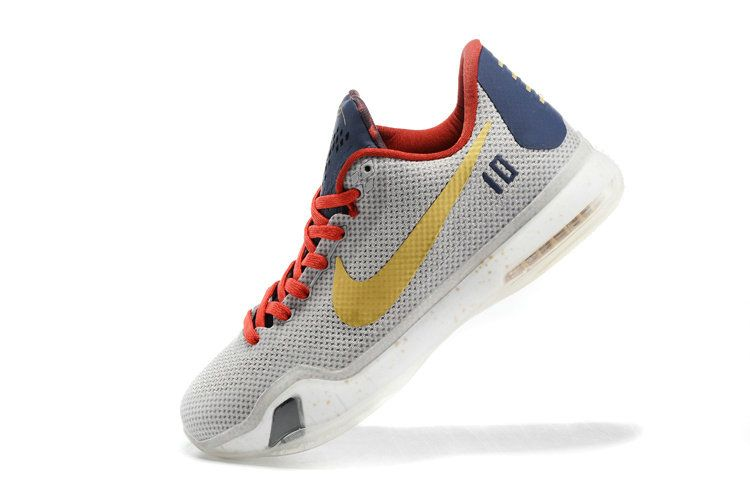 Free Shipping Only 69$ Nike Kobe 10 UConn National Championship PE Pure  Platinum Sport Red